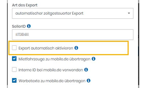 Export mobile